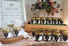 Personalized Honey Jar by Beema Honey Wedding Gift Souvenirs