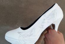 Mark & Anna Rustic Galleon Themed Wedding Shoes by TMP Custom Shoe Studio