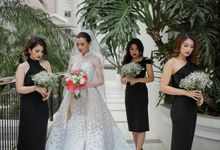 Modern Bridesmaid Dresses - Real Wedding by Poise24