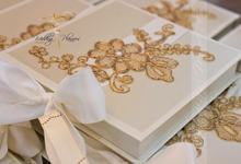 Some Invitations created with lace and ribbons! by Hand Made By Kisilda S.