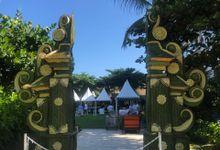Traditional Green Balinese Wedding Dekorasi by Make A Scene! Bali