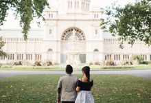 Tender Couple Session in Melbourne City by fire, wood & earth