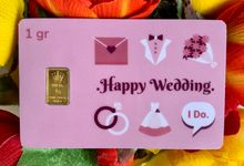Emas Logam Mulia HRTA - Happy Wedding 1 by tanamduit emas