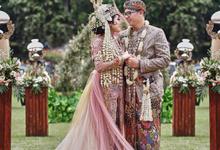 Outdoor wedding reception Rizky & Fajar by haryo radityo photography