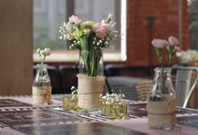 Table Setting Decorations by Hatiku Florist
