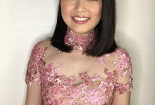 Young and pretty Joan on her engagement day  by HD Make up by Joyc Young