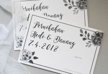 Wedding Invitation - Black and White by Kanoo Paper & Gift