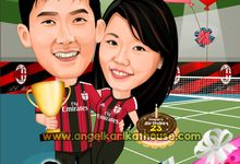 couple caricature by Angel's KarikatHouse