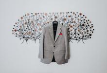 Calvin Wiselim & Vinna Gracia Bali's Wedding by Henri Winata Menswear