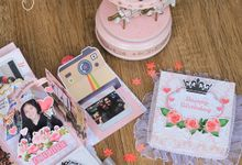 Pink Princess Theme Exploding Box (2layer) by Cora Craft