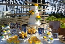 Wedding Cake Project at Alila Villas Uluwatu by Henny Cookies and Cakes, Bali