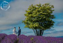 Hokkaido pre wedding photography by Odelia Bridal