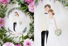 Custom Couple Illustration by Belle Pivoine