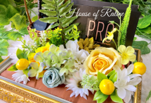 Classic Yellow with Dusty Blue by House of Raline Wedding Hampers