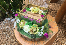 Green Purple Rustic by House of Raline Wedding Hampers