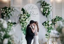 Intimate wedding William & Rica at Wyls Kitchen  by HR Team Wedding Group