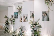 Intimate Wedding Kiki & Aksa at #dirumahaja by HR Team Wedding Group