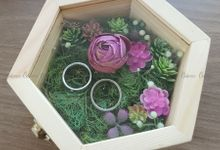 Hexa Box - Natural | Wedding Ring Bearer Box Indonesia - Celemor by Celemor