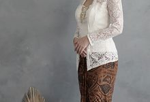Kebaya (Top and Skirt) for Wedding or Formal Event by Le Clemmie by Amelia
