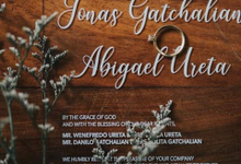Jonas and Abigael Acrylic Wedding Invite by Iced Design and Prints