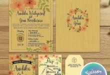 Rustic Chic Message in Bottle Invitation - Andika & Yeni by Scissor & Glue