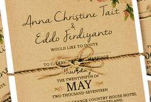 Rustic Hardcover Wedding Invitation for Anna&Eddo by Scissor & Glue