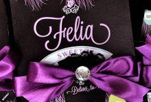 Peacock Single Hardcover Invitation-Felia by Scissor & Glue