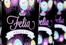 Peacock Message In A Bottle Invitation - Felia by Scissor & Glue