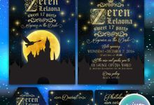 Sojourn in the Dusk Message in Bottle Invitation for Ms Zeren by Scissor & Glue