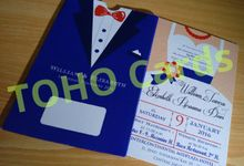 Groom & Bride Invitation 21cm Single Board by Toho Cards