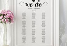 We Do invitations templates by We Do Honey