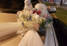 Forever friends bridal car decor by ilmare Wedding