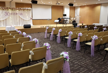 Purple theme chinese church wedding by ilmare Wedding