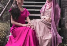 bridesmaids dress photoshoot in kuala lumpur by Nadha Atelier