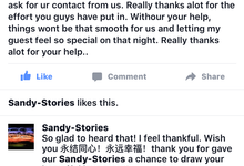 Feedback from customers by Sandy Stories Pte Ltd