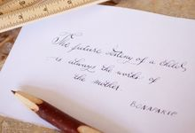 Calligraphed place cards, envelopes or your vows! by C for Calligraphy