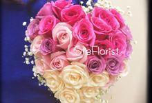 Heart bouquet by Ste Florist