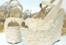 Wedges for gown by Nefrin Fadlan for brideseries wedding shoes