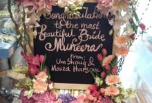 Board signages by Event Styling by Fleur Architect