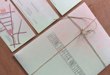 elegance baby pink and green mint by Queenie Invitation