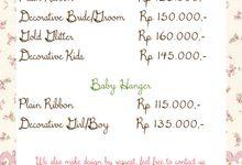 Pricelist by Wedding Hanger Bali