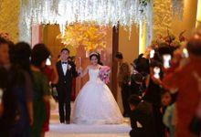 Cascading Brooch Bouquet Wedding of Adi & Valerie by ALLUREINE Brooch Bouquet Artisan