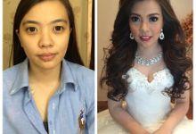 Wedding makeup for Ms Stephanie Jonathan by Kartika Dwiani Makeupartist