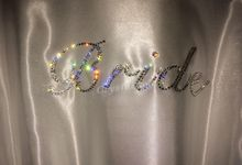 Swarovski crystal Customised bridal robe by Crystal soles