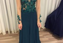 Forest Green evening dress by Tiara Bridal