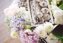 Hantaran  Seserahan Decor with hydreangeas flowers by Idieana Rozaidi