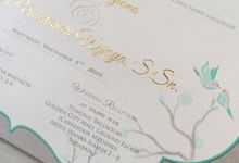 silver and gold by Queenie Invitation