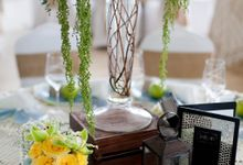 Rustic in green and yellow by AiLuoSi Wedding & Event Design Studio
