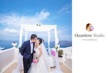 Heliotropes Hotel Terrace Santorini Wedding Ceremony package by Oceanlove Studio
