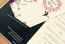 black on fuschia by Queenie Invitation